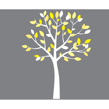 Wall Decals For Girl Nursery by Small Yellow And Gray White Tree Wall Decals For Girls