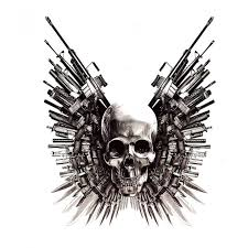 3d skull stickers the expendables 4 in one package buytra com