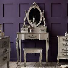 sale rococo french style silver dressing table inc stool and