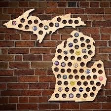 Map Upper Peninsula Michigan by Michigan Beer Cap Map