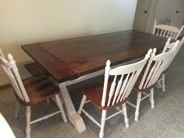 stained table top painted legs samuel asa wood furniture for every room in your house