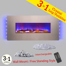 36 u2033 indoor wall tempered glass electric fireplace heater backlit