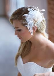 feather hair accessories ivory bridal hair clip chagne feather wedding headpiece
