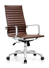 Leather Office Desk Chair Contemporary Brown Leather Desk Chair By Woodstock