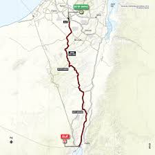 Negev Desert Map 101st Giro D U0027italia Israel Start Sports Tours International