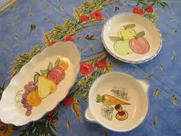 Unique Fruit Bowl Vintage Serving Bowl With Hand Painted Fruit Ceramic Fruit Bowl
