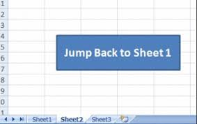 create button for jump between sheets excel tutorial tips