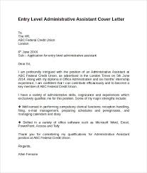 cover letter for administrative assistant application