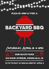 backyard bbq invitation barbeque birthday party chalkboard invite