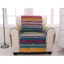 Armchair Protector Greenland Home Fashions Southwest Quilted Box Cushion Slipcover