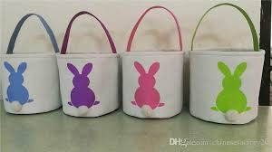 easter bunny baskets 2018 ins burlap easter bunny baskets diy rabbit bags bunny storage