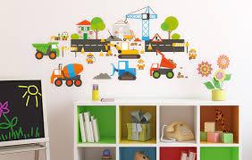 wandtattoos für kinderzimmer wandtattoo baustellen set