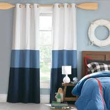 Curtains For Boys Room Darcy Rod Pocket Window Curtain Panel Navy Blue 52 X84