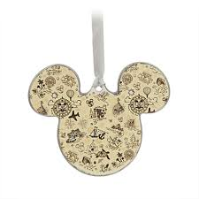 your wdw store disney disc ornament mickey icon vacation