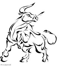 drawn bull taurus pencil and in color drawn bull taurus
