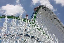 Six Flags Magic Mountain Fire Twisted Colossus Opens At Six Flags Magic Mountain