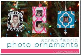 scrap fabric handmade tree photo ornaments in my own style
