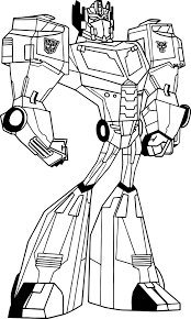 transformers animated optimus prime coloring page wecoloringpage