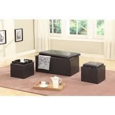 wyndenhall franklin 5 piece faux leather storage ottoman with 2