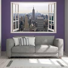wall decals stickers home decor home furniture diy new york skyline print wall sticker solvent ink vinyl transfer wall sticker pr1