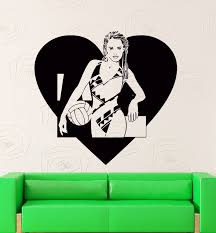 online get cheap wall stickers teen aliexpress alibaba group wall stickers vinyl decal love volleyball sport decor with girl teen free shipping china