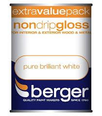 berger non drip gloss interior u0026 exterior wood u0026 metal pure