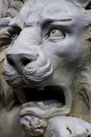 statue lions roaring white lion statue stock photo image of showing 52382450