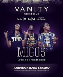 Vanity Night Club Las Vegas Migos Live Performance Vanity Nightclub Las Vegas Nv September