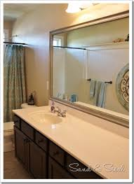 mirrors bathroom framed painted mirror using paint glaze to enhance details sand and sisal