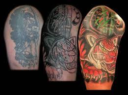 aaron goolsby tattoos half sleeve tiger cover up