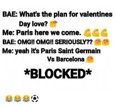 St Valentine Meme - bae what s the plan for valentines day love me paris here we come