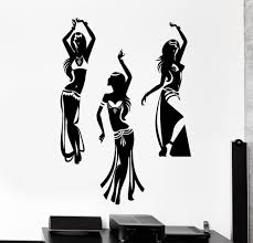 wall vinyl decal dancing belly dance oriental home interior