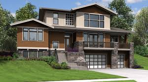 house plans walk out ranch house plans hillside house plans