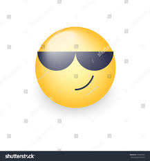 Ukrainian Flag Emoji Cartoon Emoticon Wearing Black Sunglasses Happy Stock Illustration