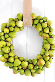 diy pear wreath fall u0026 holiday wreath combined for the win