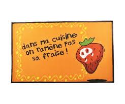tapis de cuisine evier molletonné slogan ramène pas ta fraise
