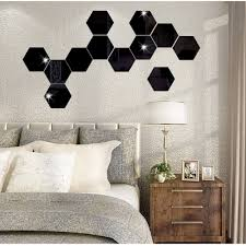 online buy wholesale hexagon tile designs from china hexagon tile multi size hexagon self adhesive tiles 3d mirror wall stickers decal mosaic home decoration