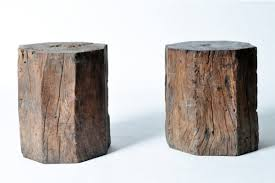 Wood Stump Coffee Table Reclaimed Tree Stump Side Table