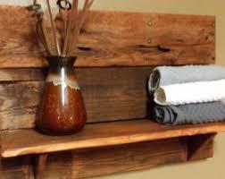 rustic home decortowel shelf bath shelfhorseshoe decor