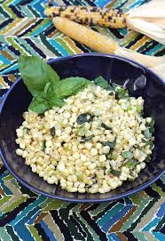indian stir fried corn with basil leeks and cumin food gal