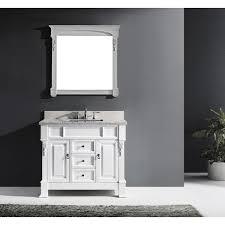 virtu usa huntshire 40 single bathroom vanity set with mirror