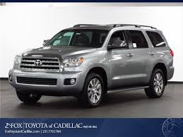 suv toyota sequoia fox toyota of cadillac vehicles for sale in cadillac mi 49601