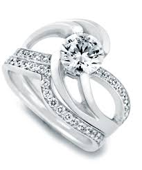 Engagement Ring With Wedding Band by Kismet Contemporary Engagement Ring Mark Schneider Design
