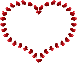 heart shaped border little hearts coloring book colouring sheet