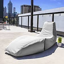 chaise e 70 amazon com jaxx prado outdoor bean bag chaise lounge chair white