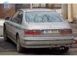 861 bgs honda accord license plate of estonia