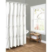 Restoration Hardware Shower Curtains Designs Lush Decor Gigi Shower Curtain White Shower Curtains Design