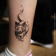 tattoo cat sketch cat with colored eyes best tattoo design ideas