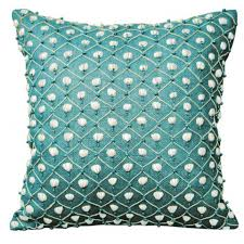 Square Sofa Pillows by Bedroom Unique Turquoise Pillows In Silver Sparkling Design Of