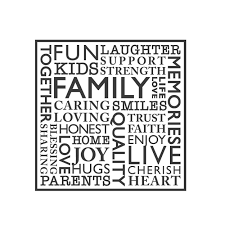 picture collage words vinyl wall quote decals by modernvector wall quotes wall decals family word collage